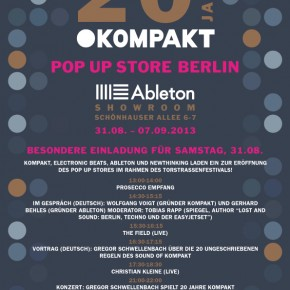 Der KOMPAKT Pop Up Store eröffnet in der Ableton Zentrale in Berlin